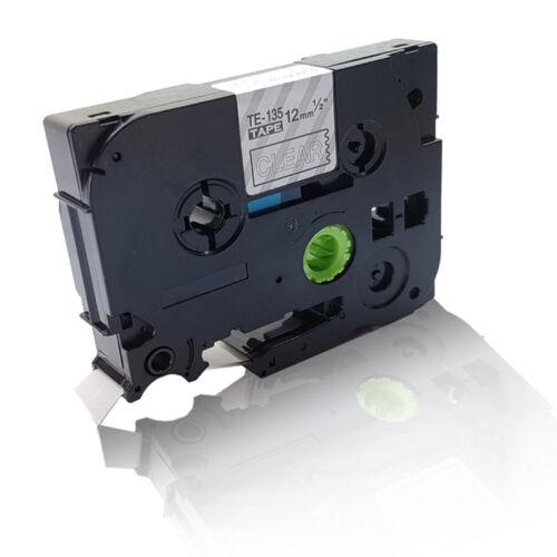 Austausch kompatible Schriftband für Brother P-Touch 1230 PC TZE 135 white on Co
