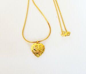 22k Gold Plated Ganpati Necklace Chain Ethnic Jewelry Indian God Ganesh Pendant