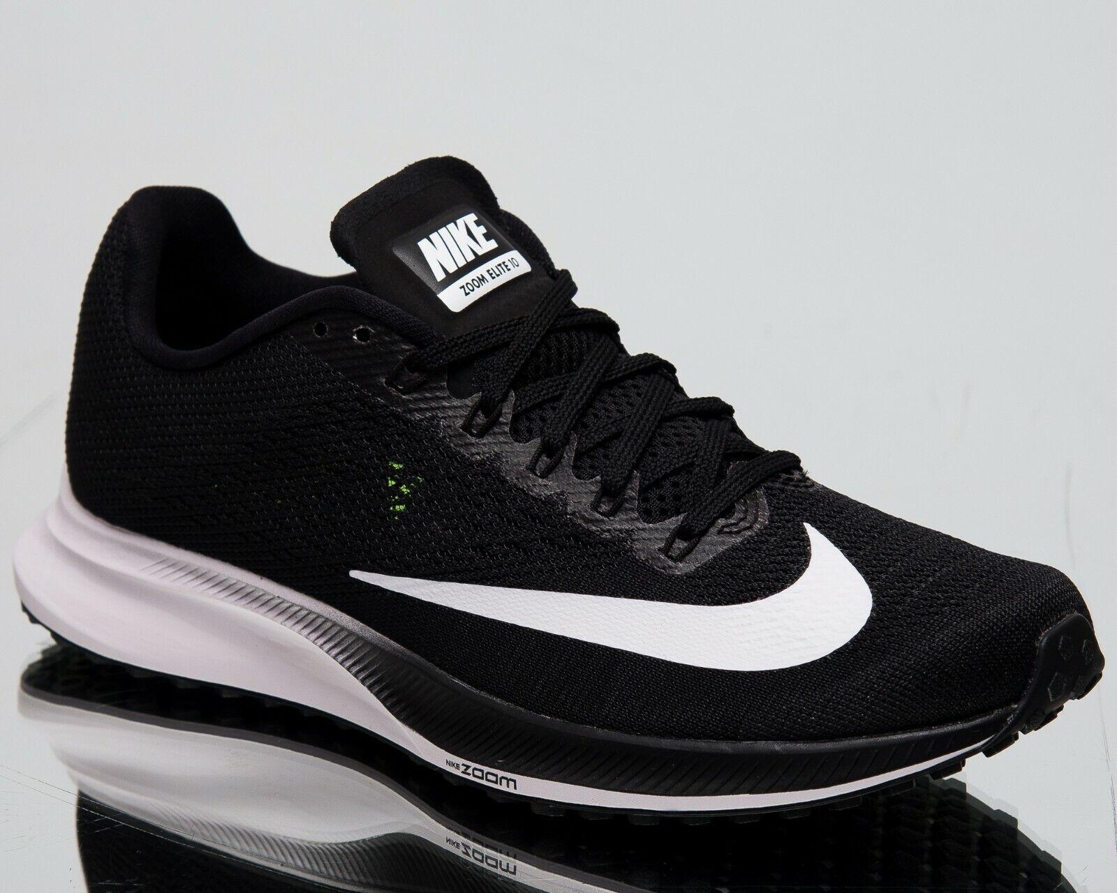 Nike donna AIR ZOOM Elite 10 NUOVE Scarpe Scarpe Scarpe Da Corsa Nero Bianco Volt 924505-001 991361