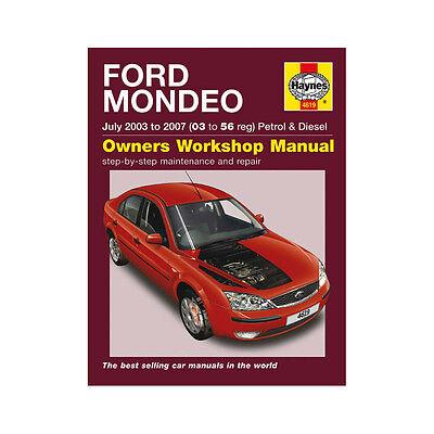 Haynes Workshop Manual Ford Mondeo Petrol Diesel 2003-2007 Service /& Repair