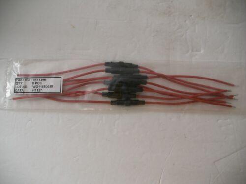 In Line Spring Loaded Miniature Fuse Holder 16 Gauge 12 Inch Leads 1.5 Amp 8 pcs