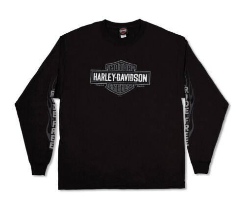 Harley-Davidson T-Shirt Biker Manga Larga Negro para Hombre Mujer Tel Aviv Israel