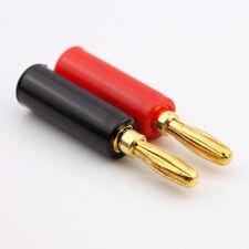 10Pcs/Kit 4mm Gold Plated Speaker Banana Connector Horn Speakers Banana Plug New