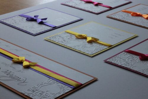 Sitting//Table Plan Size A1//A2 Embossed Ribbon Rhinestones Handmade Personalised