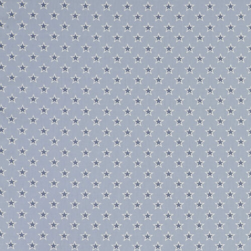 Studio G Shooting Stars Chambray Fabric Remnant 100/% Cotton 50cm x 40cm