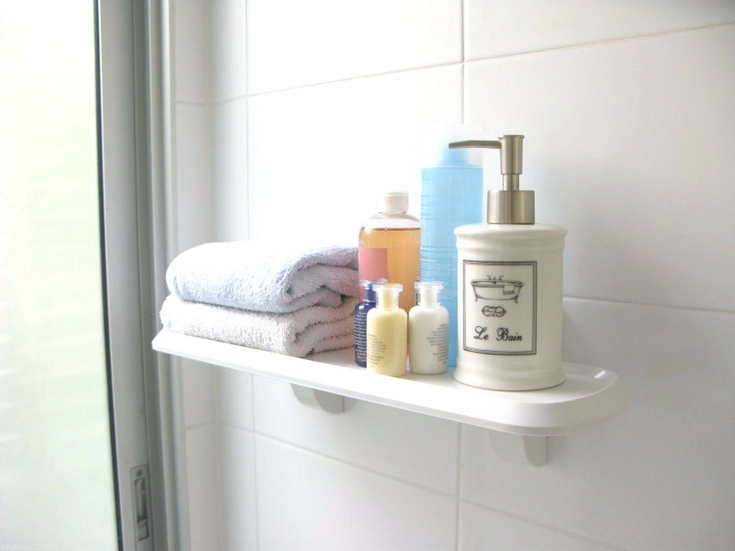 3m Command Bathroom White Plate Shelf With Water-resistant Strips ...