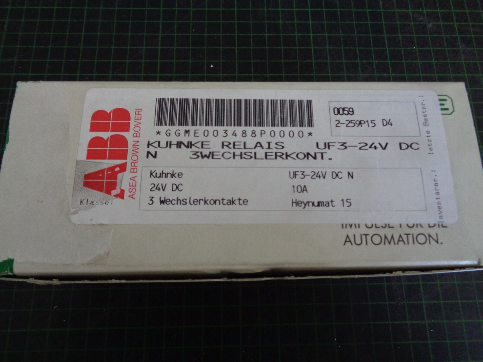 10 x KUHNKE Relais uf3-24v DC N; 3 Changeur Changeur 3 contacts bf0272