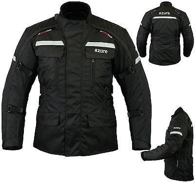 Men's Motorbike Motorcycle Waterproof Racing Armoured Cordura Textile Jackets