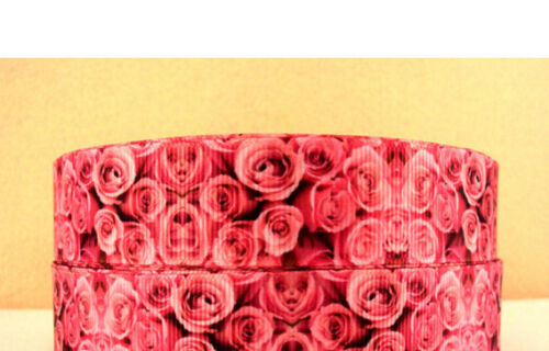 Rose Ribbon for cake decorating or scrap booking Valentines Day