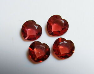 4pc-RED-GARNET-FACETED-HEART-SHAPE-LOOSE-GEMSTONE-LOTS-cut-from-natural-rough
