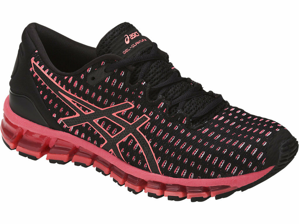 ASICS T7E7N.9006 GEL-QUANTUM 360 Wmn's Price reduction Black/Flash-Coral Mesh Running Shoes Seasonal price cuts, discount benefits