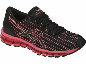 buy popular 51d9b 0c2c5 Details about ASICS T7E7N.9006 GEL-QUANTUM 360 Wmn's (M) Black/Flash-Coral  Mesh Running Shoes
