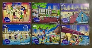 Singapore-stamps-2018-National-Day-issue-6v-DINNER-EXERCISE-FISHING-orchid