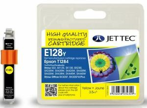 JetTec T1284 Yellow Compatible Ink Cartridge for Epson - E128Y