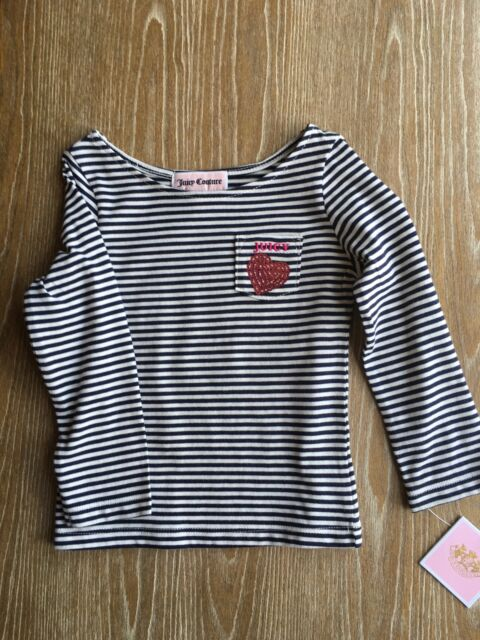 Juicy Couture Baby Girls Striped Long Sleeve Shirt Size 6/12 M
