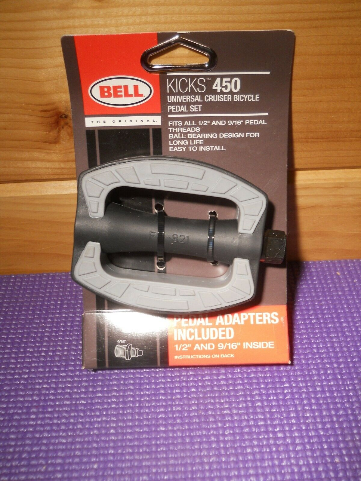 """Bell Kicks 450 Universal Cruiser Bicycle Pedal Set Fits All 1//2/"""" And 9//16/"""" New"""