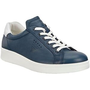327a2c7f7b6 Ecco Soft 4 True Navy White Womens Leather Casual Lace-Up Low ...