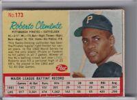 1962 POST CEREAL #173 ROBERTO CLEMENTE PITTSBURGH PIRATES HOF 5136