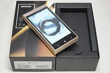 Unlocked FREETEL MUSASHI Champagne Gold FTJ161A Japanese Smartphone