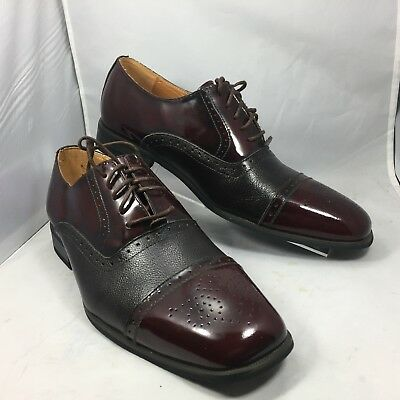 Men/'s Dress Shoes Giorgio Venturi 6483 Light Brown//Burgundy Leather Wing Tip