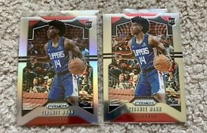 Terance Mann 2019-20 Panini Prizm Silver Rookie #296 + Base - Clippers