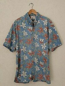 Vtg-Alfred-Shaheen-Reyn-Spooner-Hawaiian-Floral-Reverse-Print-Aloha-Shirt-SZ-2XL