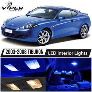 Details About Blue Interior Led Lights Package Kit For 2003 2008 Hyundai Tiburon