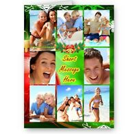 Personalised Photos & Message Collage Christmas A5 Card