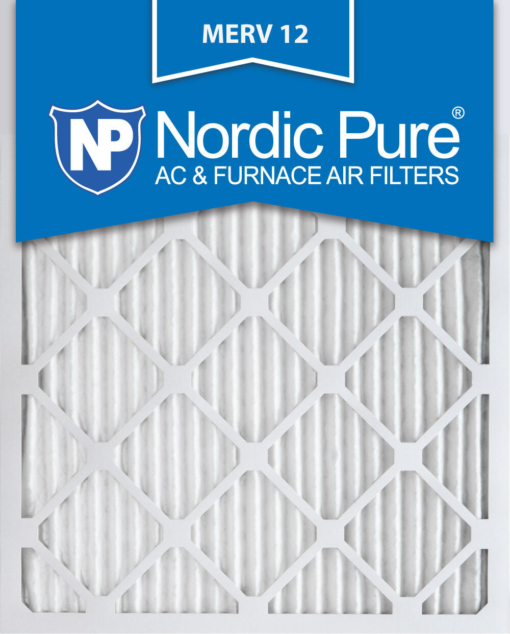 Nordic Pure 16x20x1 MERV 12 Tru Mini Pleat AC Furnace Air Filters 3 Pack