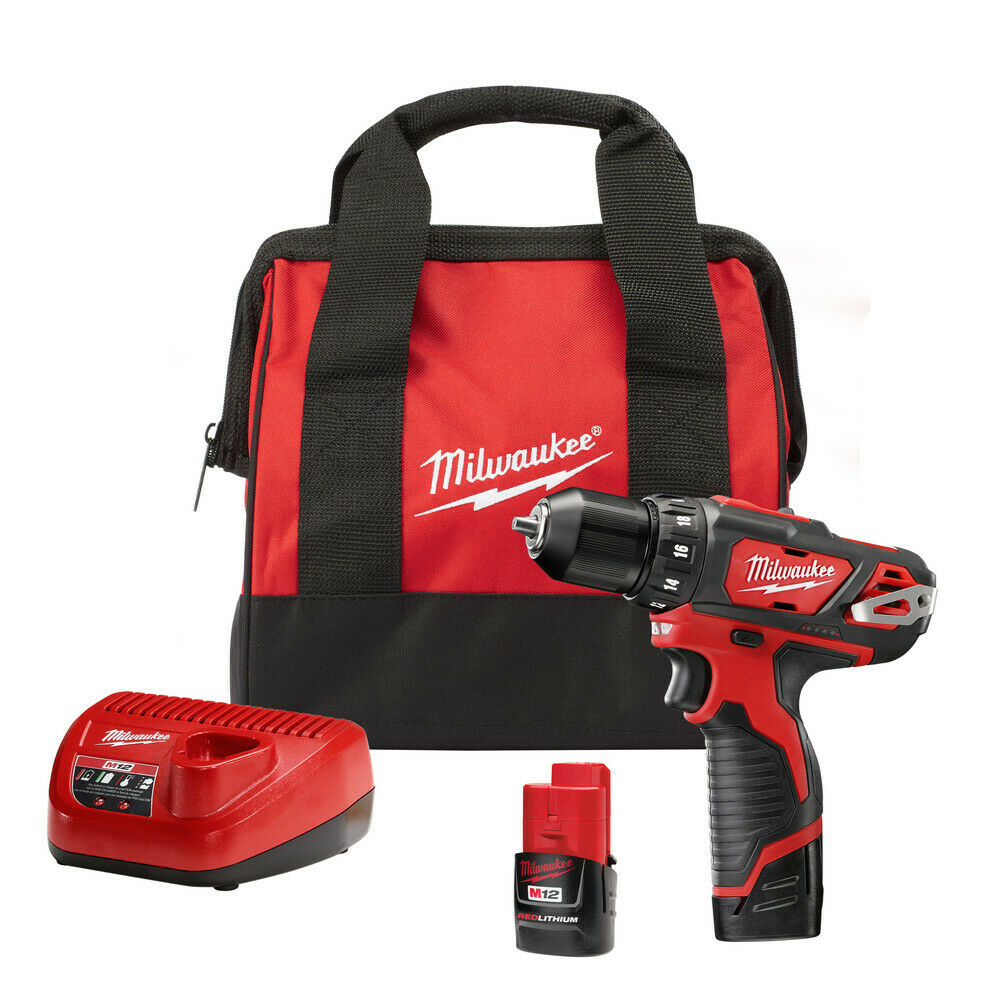 Milwaukee 2407-22 M12 Li-Ion 3/8 in. Drill/Driver Kit New. Buy it now for 127.71