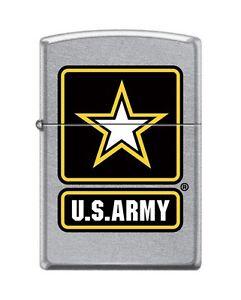 Zippo-7221-United-States-Army-Logo-Street-Chrome-Finish-Lighter