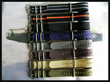 22mm Black-Grey NATO G10 UTC bonded stitched strap German IW SUISSE 18 20 22 24