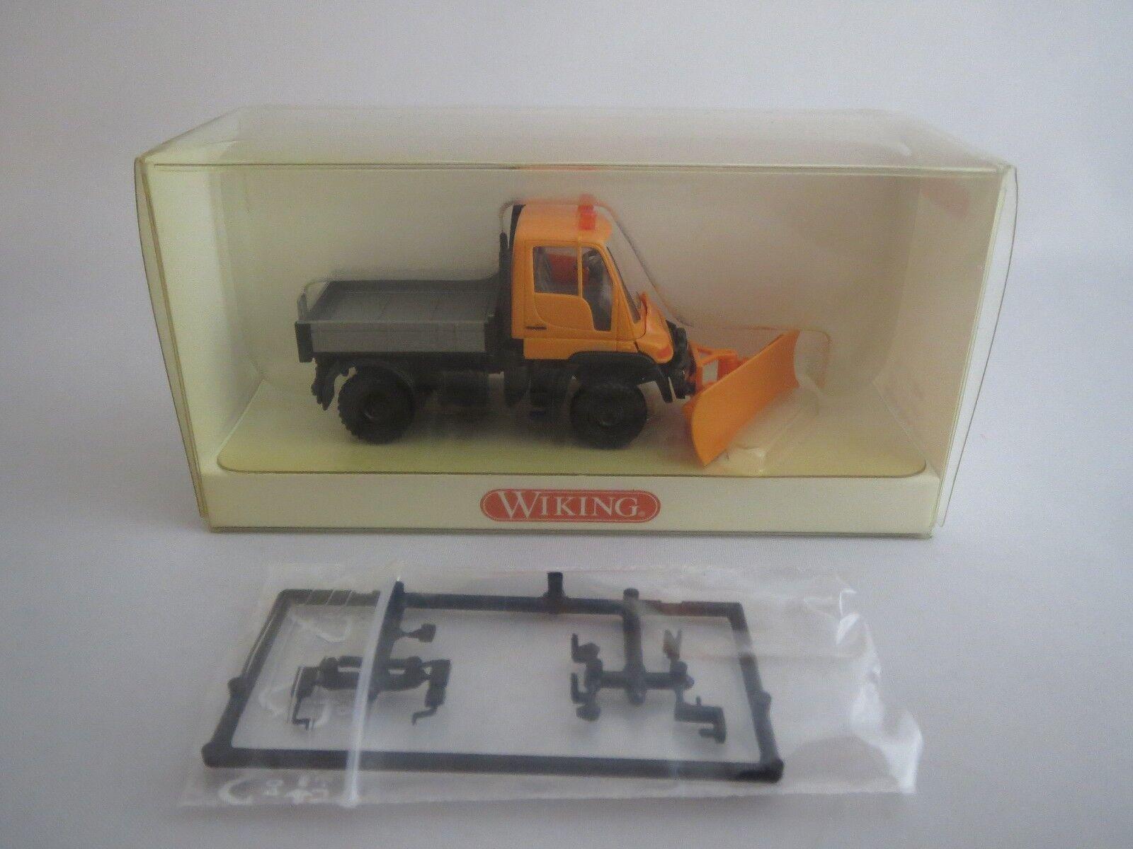 Wiking 6460335 Unimog U 400 avec chasse-neige neuf dans sa boîte