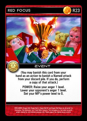 Dragon Ball Z DBZ CCG Tcg Custom Proxy Foil Red Android Twin Beams