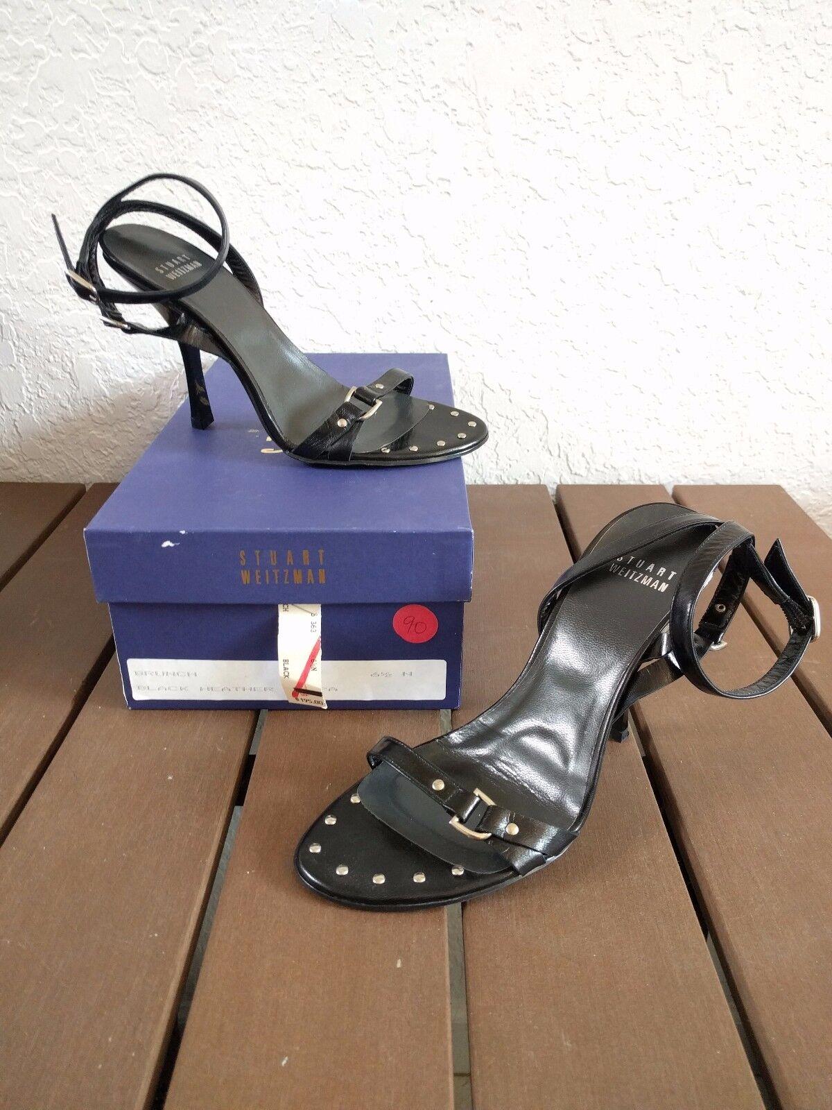 Stuart Weitzman Damen Schwarz Riemchen Ferse Ferse Ferse Sandalen 6.5n Schmal  | Bevorzugtes Material  3de606