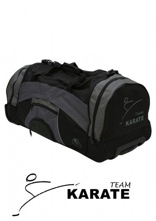 Dax Sports bolso deportivo con ruedas, Dax Wheeler karate, negro gris. karatetasch