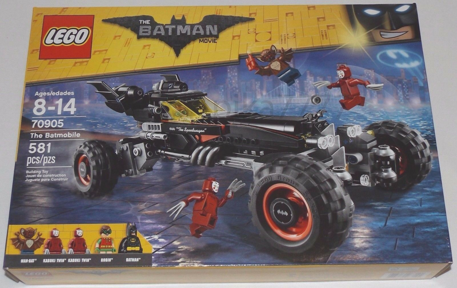 LEGO The BATMAN Movie The BATMOBILE 70905 Robin Kabuki Twin Man-Bat