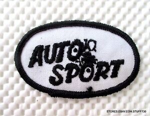 AUTO-SPORT-EMBROIDERED-SEW-ON-PATCH-UNIFORM-HAT-SHIRT-ADVERTISING-3-034-x-2-034