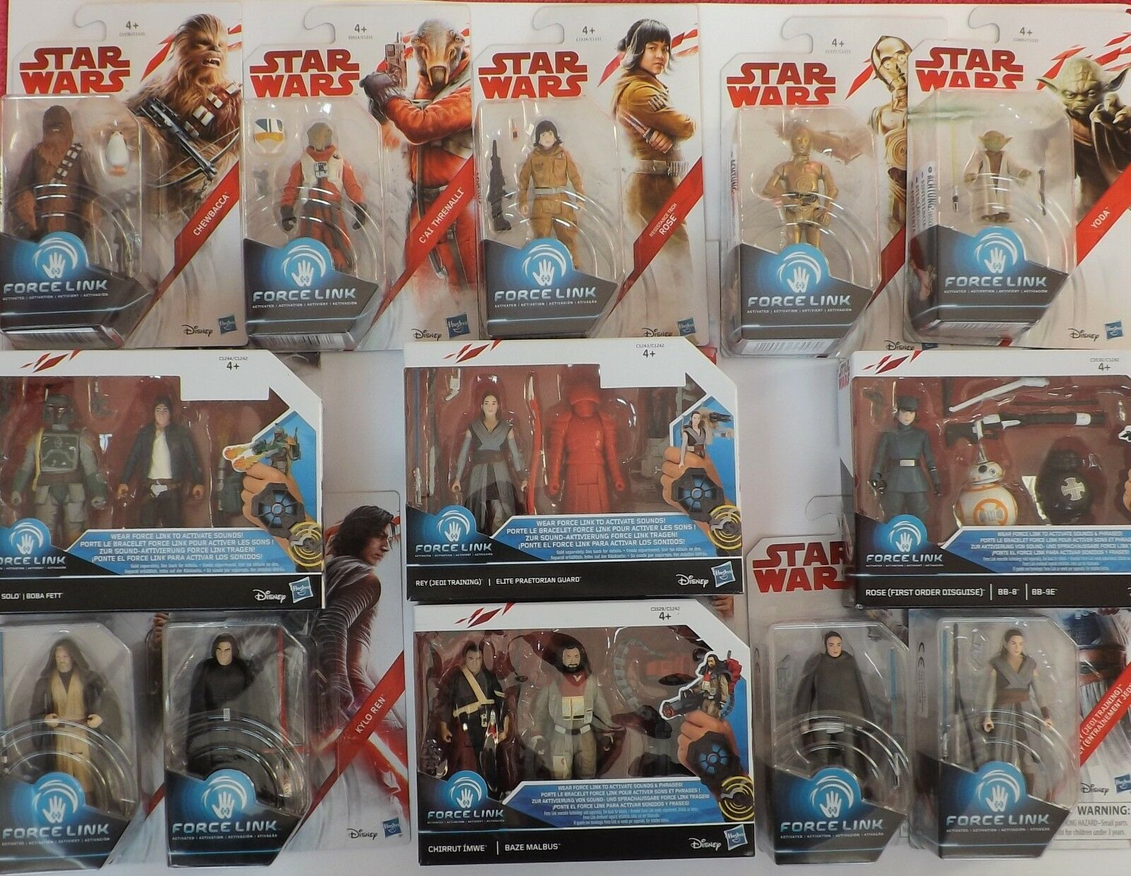 HASBRO, Star Wars FORCE LINK 1 & 2, 3.75″, Discounts on 2+ and P&P