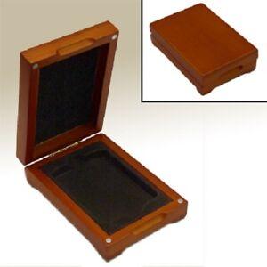 Wood-Display-Presentation-Box-1-Coin-Graded-Slab-NGC-PCGS-ANACS-Safe-Storage-New