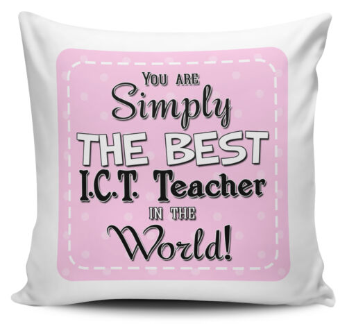 You Are Simply The Best In The World Cushion Cover Pink Titles
