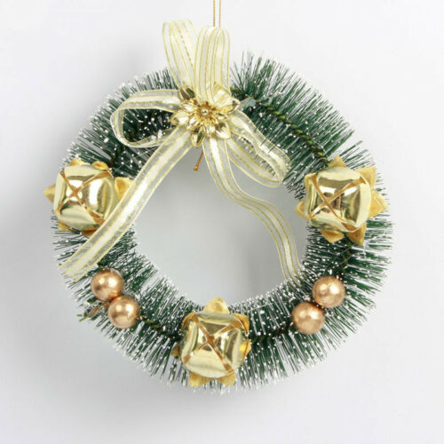 Mini Christmas Hanging Garland Wreaths Decorations Xmas Tree Door Window Decor Wreaths Garlands Winter Plants