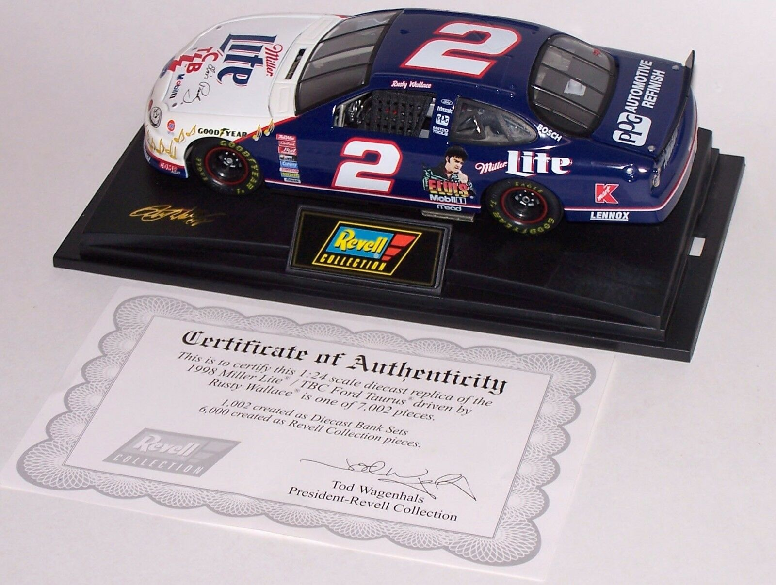 Rusty Wallace 1998 Ford Taurus Miller Lite TCB 1 24 Scale 1 of 6,000