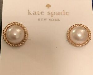 53285e8f558a1 Kate Spade Seaport Faux Pearl Studs Earrings With Kate Spade Dust ...