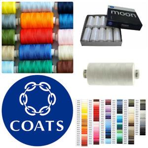 Coats-Moon-Sewing-Machine-Polyester-Overlocking-Thread-Cotton-1000-yard