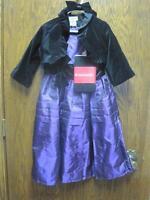 American Girl Girls Size 6x Pretty In Purple Dress/jacket/tights/headband-re