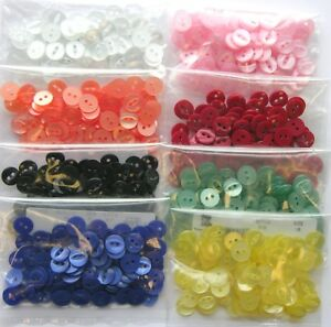 100-x-Fish-Eye-Buttons-Choice-Of-Size-amp-22-Colours