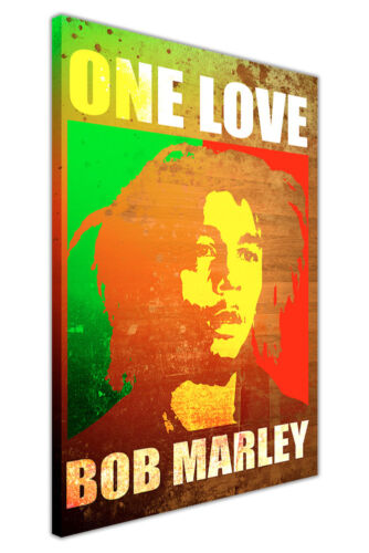 POP ART BOB MARLEY POSTER ONE LOVE QUOTE CANVAS WALL ART PRINTS MUSIC PICTURES