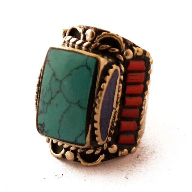 Turquoise Coral Lapis Rings 9