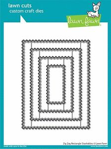 Lawn Fawn Lawn Cuts LF1385 Zig Zag Rectangle Stackables - NEW!!